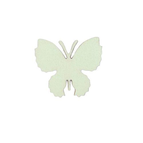 10db. festett fa pillangó 4 x 3.5cm - Zöld