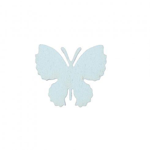 10db. festett fa pillangó 4 x 3.5cm - Kék
