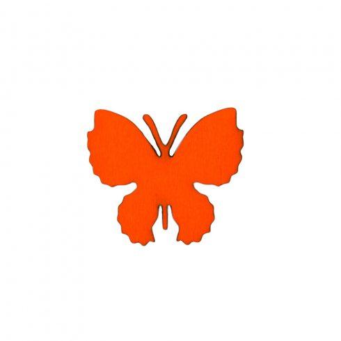10db. festett fa pillangó 4 x 3.5cm - Narancssárga