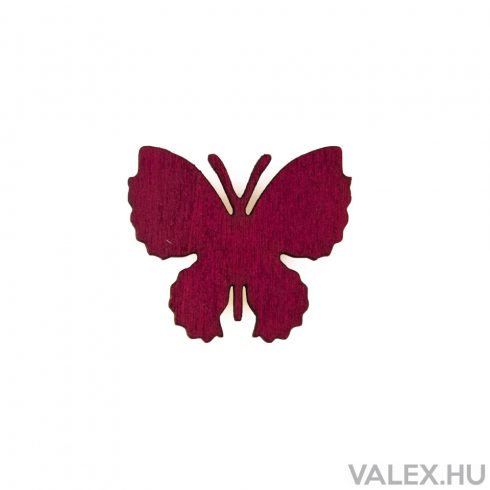 10db. festett fa pillangó 4 x 3.5cm - Bordó