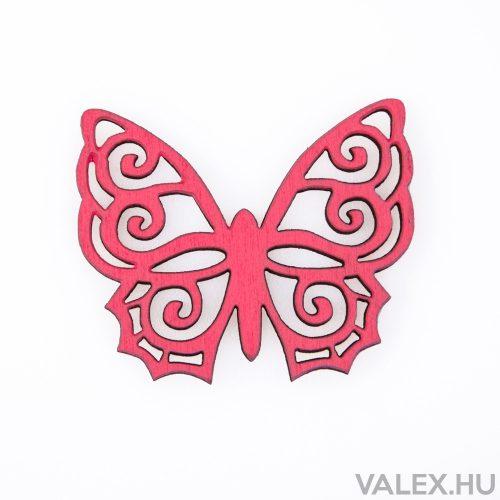 6db. festett fa pillangó 5 x 6cm - Ciklámen