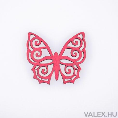 10db. festett fa pillangó 4 x 4.5cm - Ciklámen