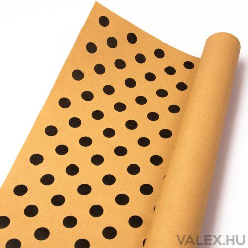 Natúr kraft papír 61cm x 43cm - Pöttyös (20db.)