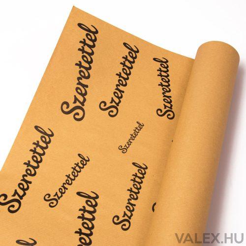 Natúr kraft papír 61cm x 43cm - Szeretettel (20db.)