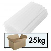Ragasztópisztoly betét (ragasztó rúd) 11mm x 20cm (1 karton = 25 csomag = 1350 db.)