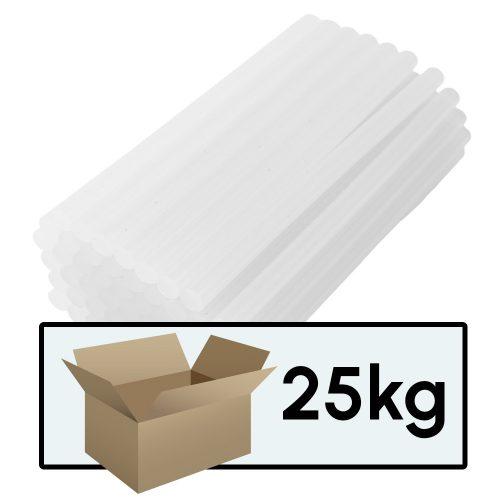 Kartonos ragasztópisztoly betét (ragasztó rúd) 11mm x 20cm (1 karton = 25 csomag = kb. 1350 db.)