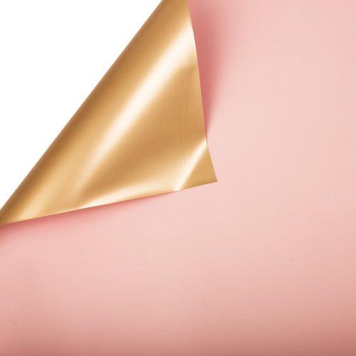 Púder rózsaszín / Arany fólia tekercs 58cm x 10m