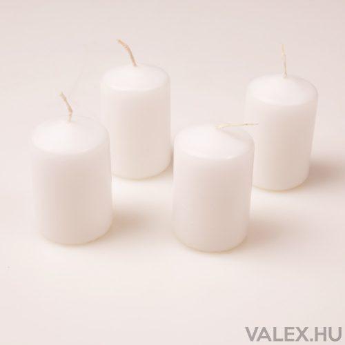Fehér adventi gyertya 5.5cm x 4cm