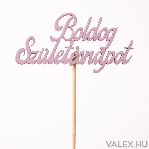 """""""Boldog születésnapot"""" feliratos betűző 10 x 33cm - Lila"""