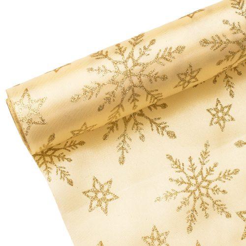 Karácsonyi szatén tekercs 36cm x 5m - Krém