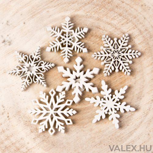 6 db. Öntapadós hópihe dekoráció 5cm
