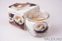 Kókusz illatgyertya, poharas illatmécses