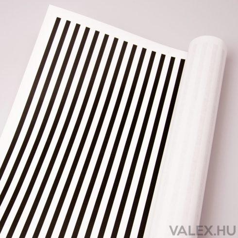 Fehér kraft papír 61cm x 43cm - Csíkos (20db.)