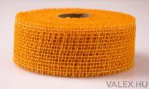 Juta szalag 5cm x 9m - Világos narancssárga