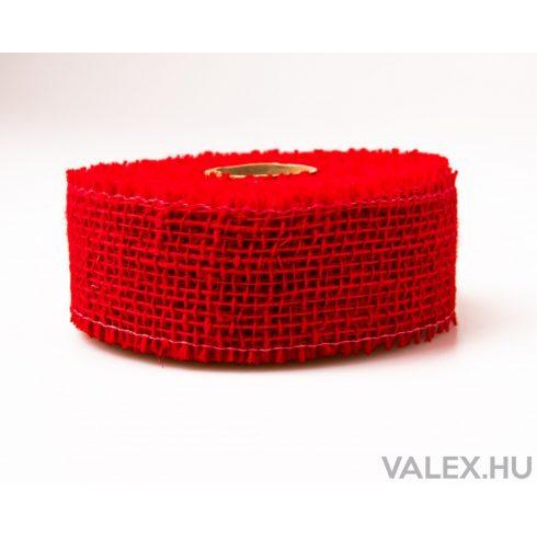 Juta szalag 5cm x 10m - Piros