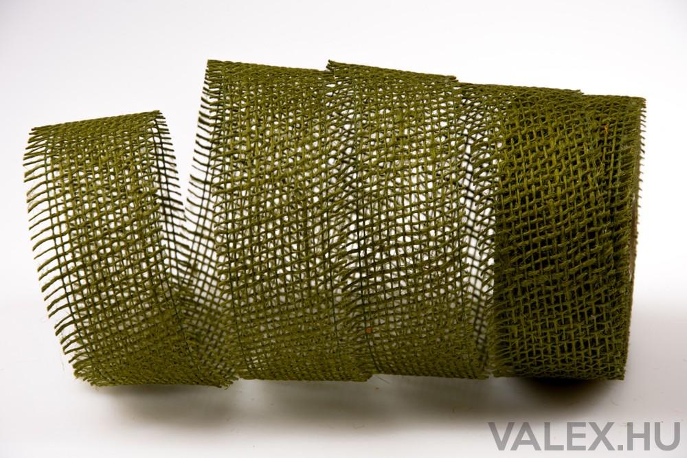 Juta szalag 5cm x 10m - Tea zöld  e4b89ba4f0